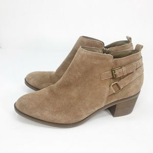 Sonoma Ankle Boots Brown Block Zip Booties 10 M